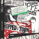 Mostly black and white collage consisting of 'Ripped & Torn' zine covers. Green and red elements.