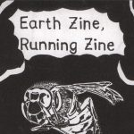 """Black and white """"Earth zine"""" cover. Illustration of a wasp. Handwritten title."""