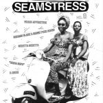 """Black and white """"Shotgun Seamstress"""" cover picturing two black women riding a motorcycle"""