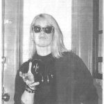 Xerox 3/4 portrait of the person wearing sunglasses Homocore title on the top of the page
